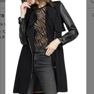 Zara Trench Coat with Faux Leather Sleeve